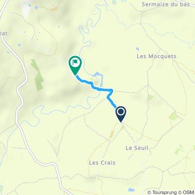 CC hacia Poisson con caminada en tierra y llanta ponchada