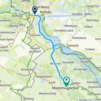 Bratislava to Mosonmagyarovar