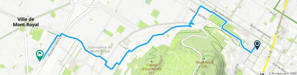Itinéraire reposant en Montréal