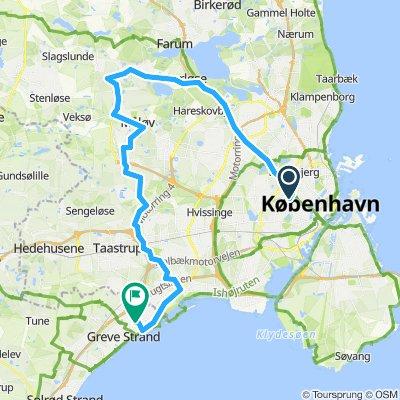 Frederiksberg til hundige 54 km