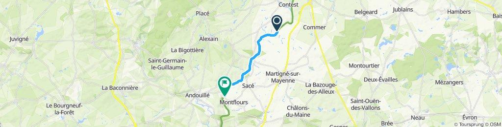 Langzame rit in Montflours