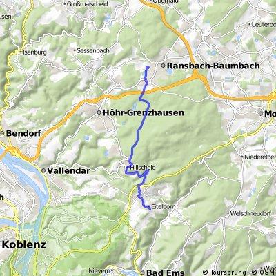 Korrigierte Route Eitelborn-Ransbach-Baumbach
