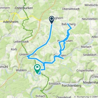 Seckach-Jagst-Tour 42 km