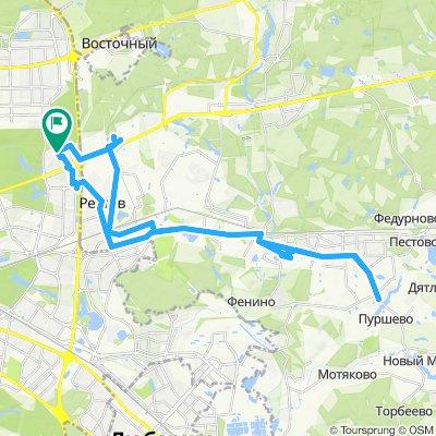 Велоездки осенние теплые Балашиха -> Железнодорожный (Керамик) -> Железнодорожный (Саввино) 13 09 2019