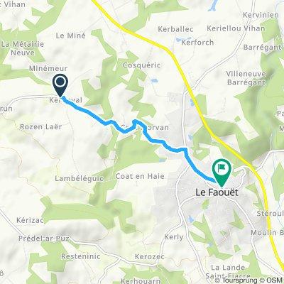 Itinéraire confortable en Le Faouët