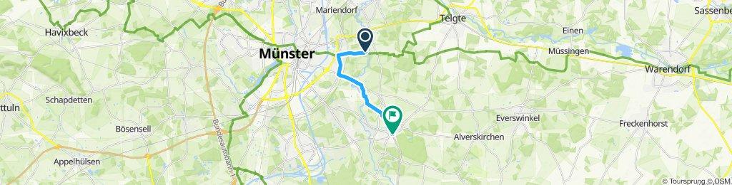 Einfache Fahrt in Münster