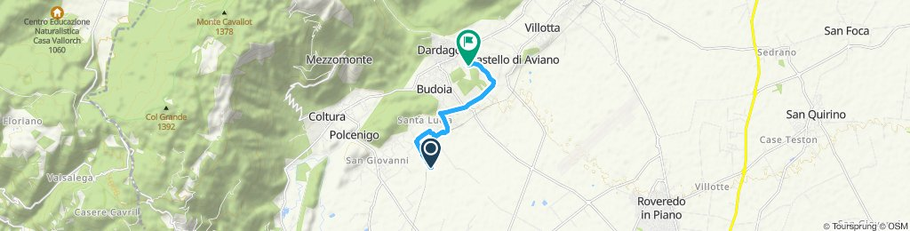 Relaxed route in Polcenigo