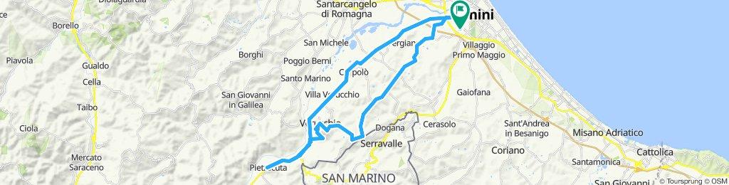 Tour Verucchio - Rimini