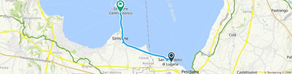 Itinéraire confortable en Peschiera del Garda