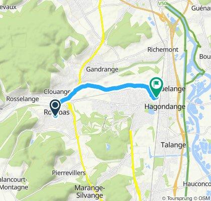 Itinéraire à grande vitesse en Mondelange