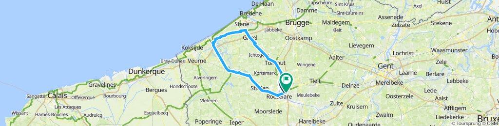 Sportieve route in Ardooien