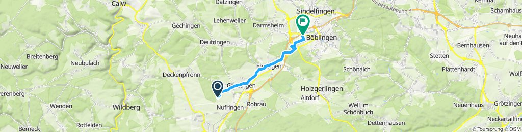 Einfache Fahrt in Böblingen