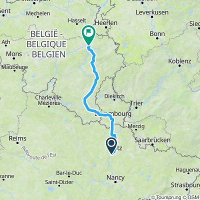 Sportieve route in Luik