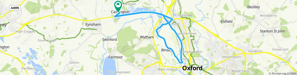 Cassington to Oxford circular route