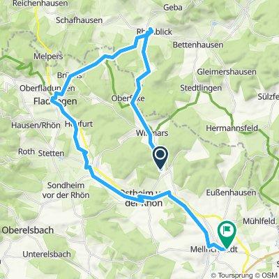 Knackige Fahrt in Mellrichstadt