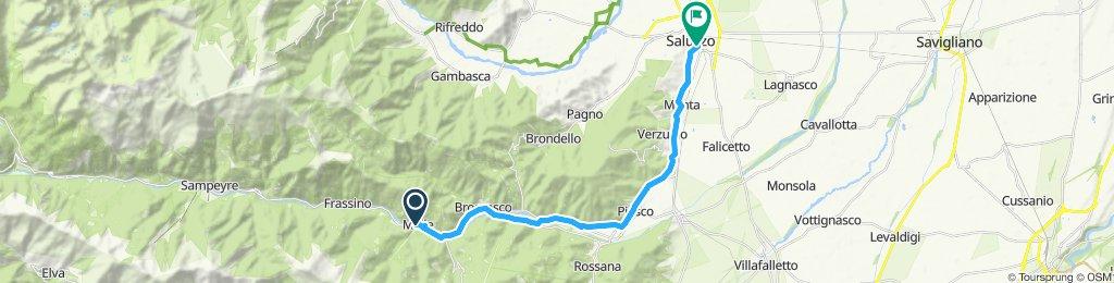 Giro velocissimo in Saluzzo