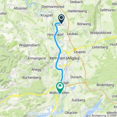 Sportliche Route in Waltenhofen