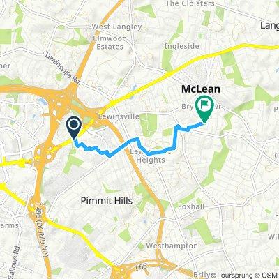 Moderate route in Mc Lean