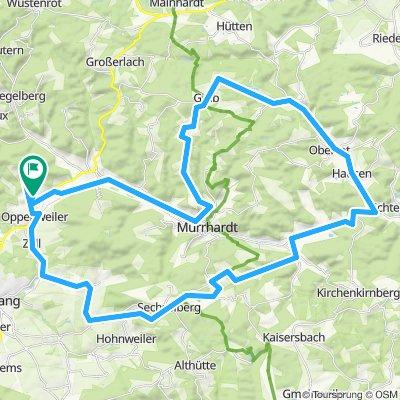 Lange Trainingsrunde über Grab, Oberrot, Kasbach