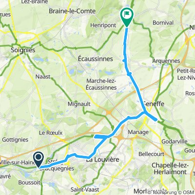 Strépy-Ronquieres via kanaal 28 km