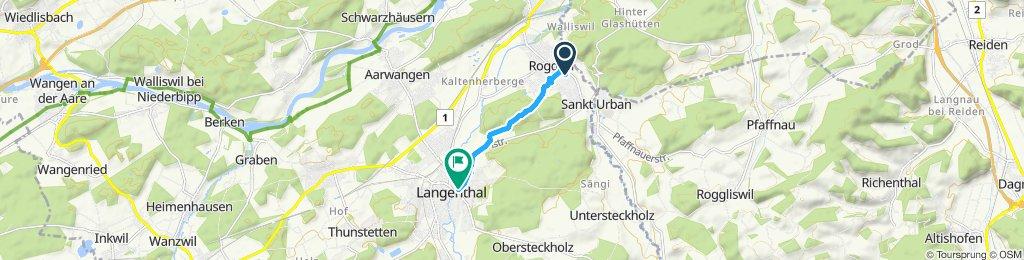 Gemütliche Route in Langenthal