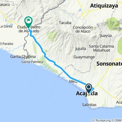 E36–Acajutla(Salvador)–Ciudad Pedro de Alvarado(Guatemala)