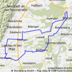 Intersport-Scheben-Permanente - Vom Rhein an die Weinstraße - 82 km Strecke des RSC Vorwärts Speyer e.V.