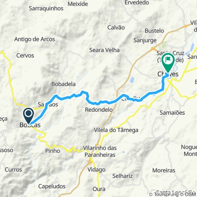 Boticas to Chaves road