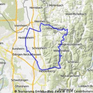 Ladenburg - Trösel - Hilsenhain - Wilhelmsfeld - HD
