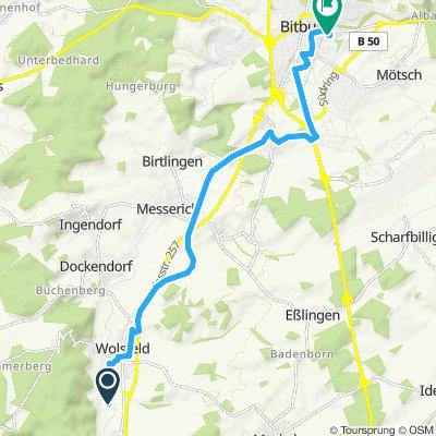 Einfache Fahrt in Biersdorf am See