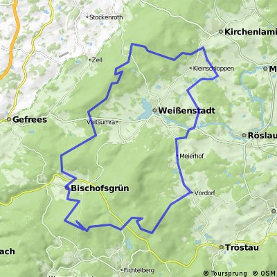 MTB-Tour Fichtelgebirge (Seehaus-Ochsenkopf-Waldstein)