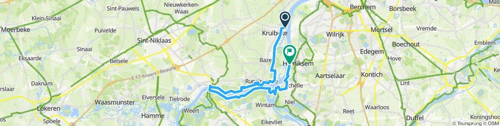 Schelde route  Kruibeke - Hemiksem