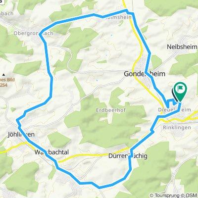 Nach Heidelsheim, Obergromb., Jöhlingen, Wö.