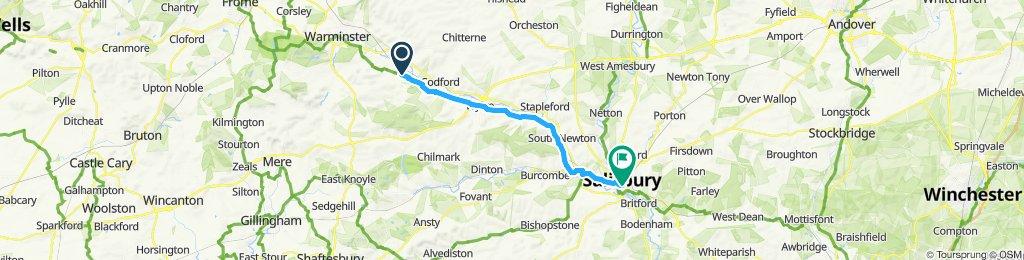 Restful route in Warminster