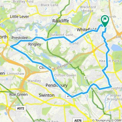 Round trip - Whitefield to Prestwich