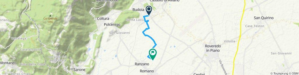 Fast ride in Fontanafredda