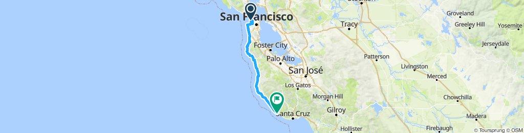 SF to LA Day 1 - 72 miles