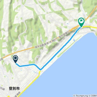 Moderate route in Noboribetsu-Shi