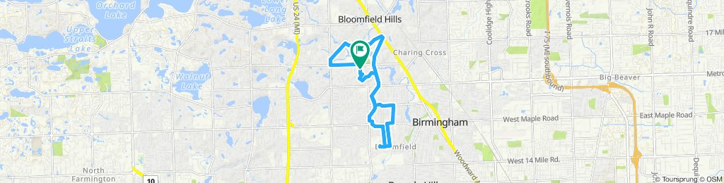 Cracking ride in Bloomfield Hills
