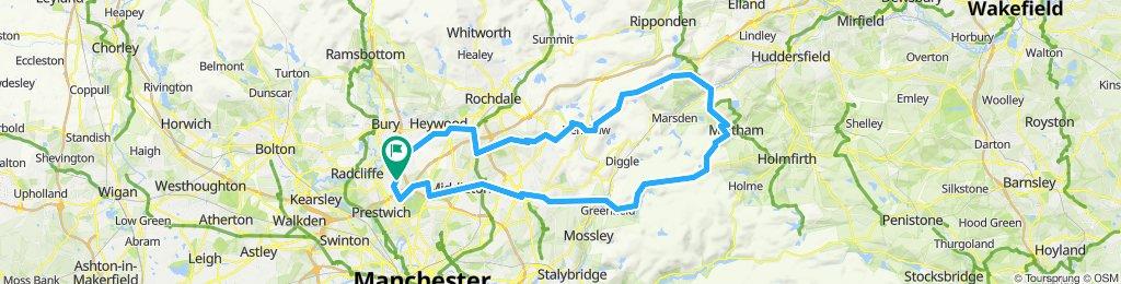 Whitefield to Slaithwaite