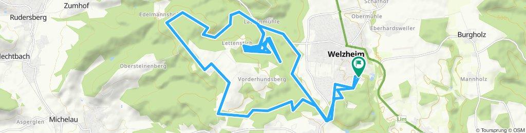 Gerade Fahrt in Welzheim
