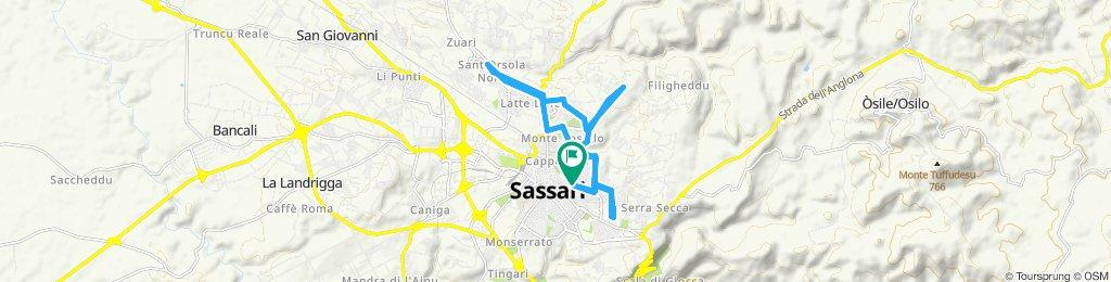 Giro a velocità lenta in Sassari