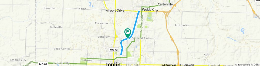 Ride whole Frisco Trail from Joplin to Webb City then back to Joplin Trailhead then back to car!!!