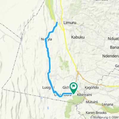 Thogoto to Mai Mahui Junction and back