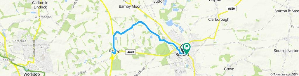 Moderate route in Retford