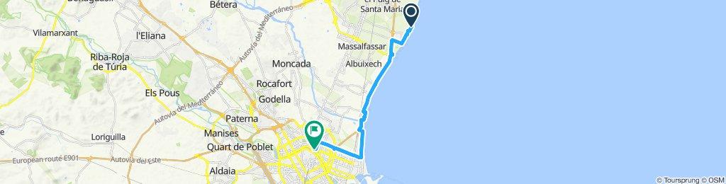 Ruta constante en Valencia