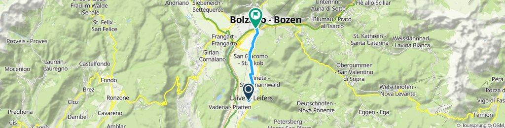 Giro a velocità costante in Bolzano