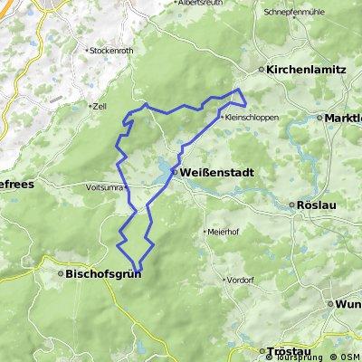 MTB-Tour Fichtelgebirge Schneeberg-Waldstein