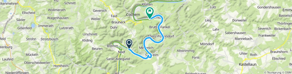 Gerade Fahrt in Valwig