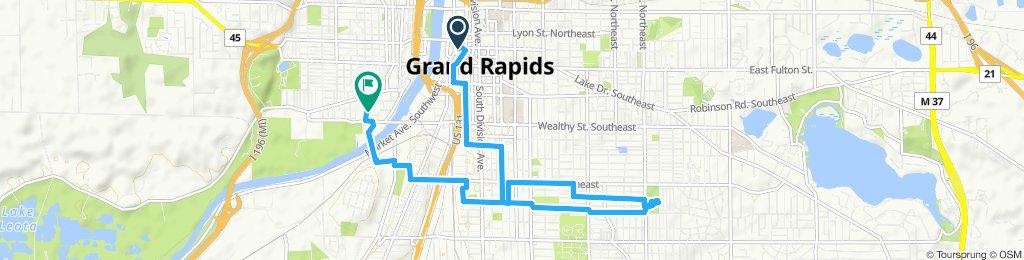 Restful route in Grand Rapids